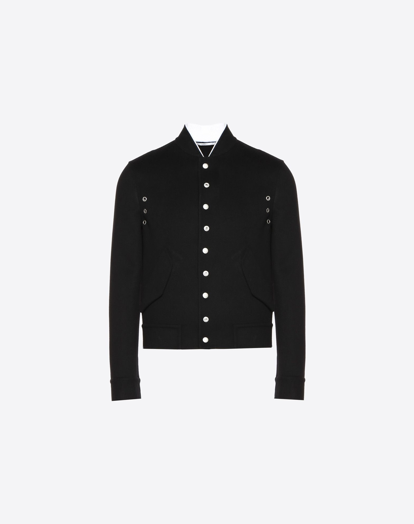DOUBLE-FACED WOOL AND CASHMERE SHORT BLOUSON