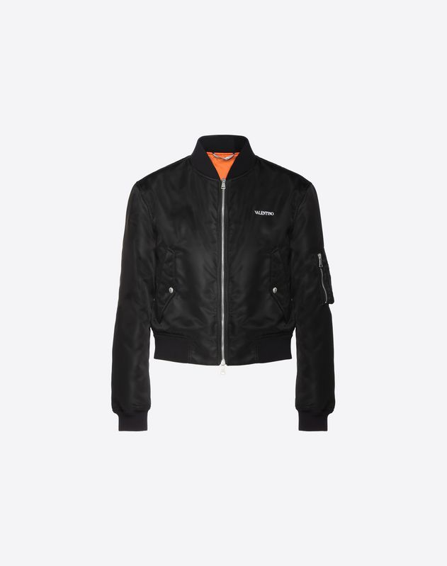 NYLON BOMBER WITH VALENTINO LOGO