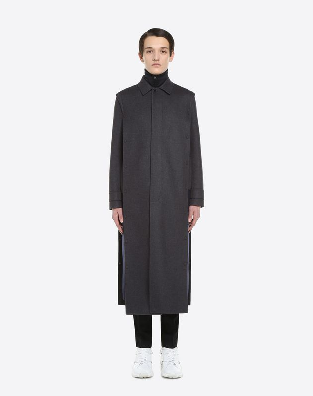 LONG COAT WITH SIDE PRESS STUDS