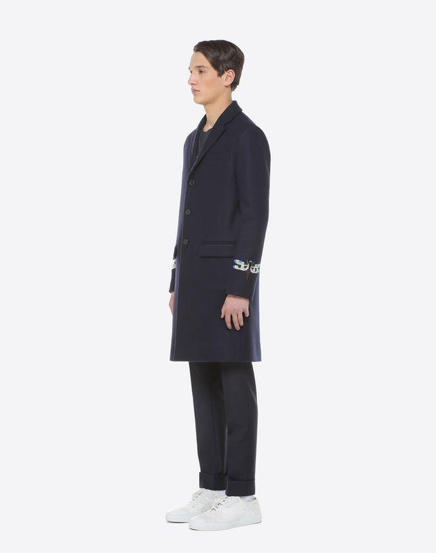 Coat with Dragonfly intarsia