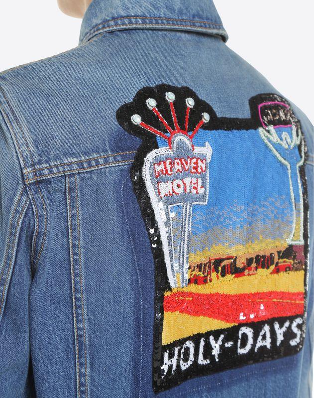 Куртка из денима с вышивкой Hotel
