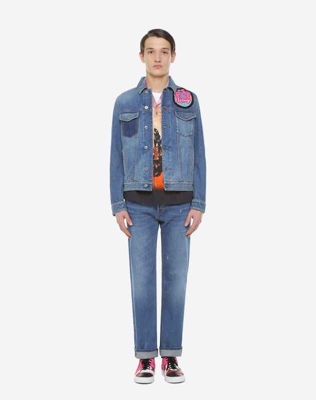 Hotel embroidered denim jacket