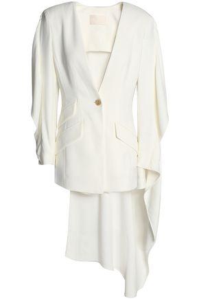 ANTONIO BERARDI Cutout draped crepe blazer