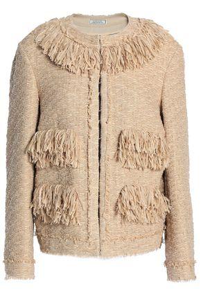 NINA RICCI Fringe-trimmed tweed jacket