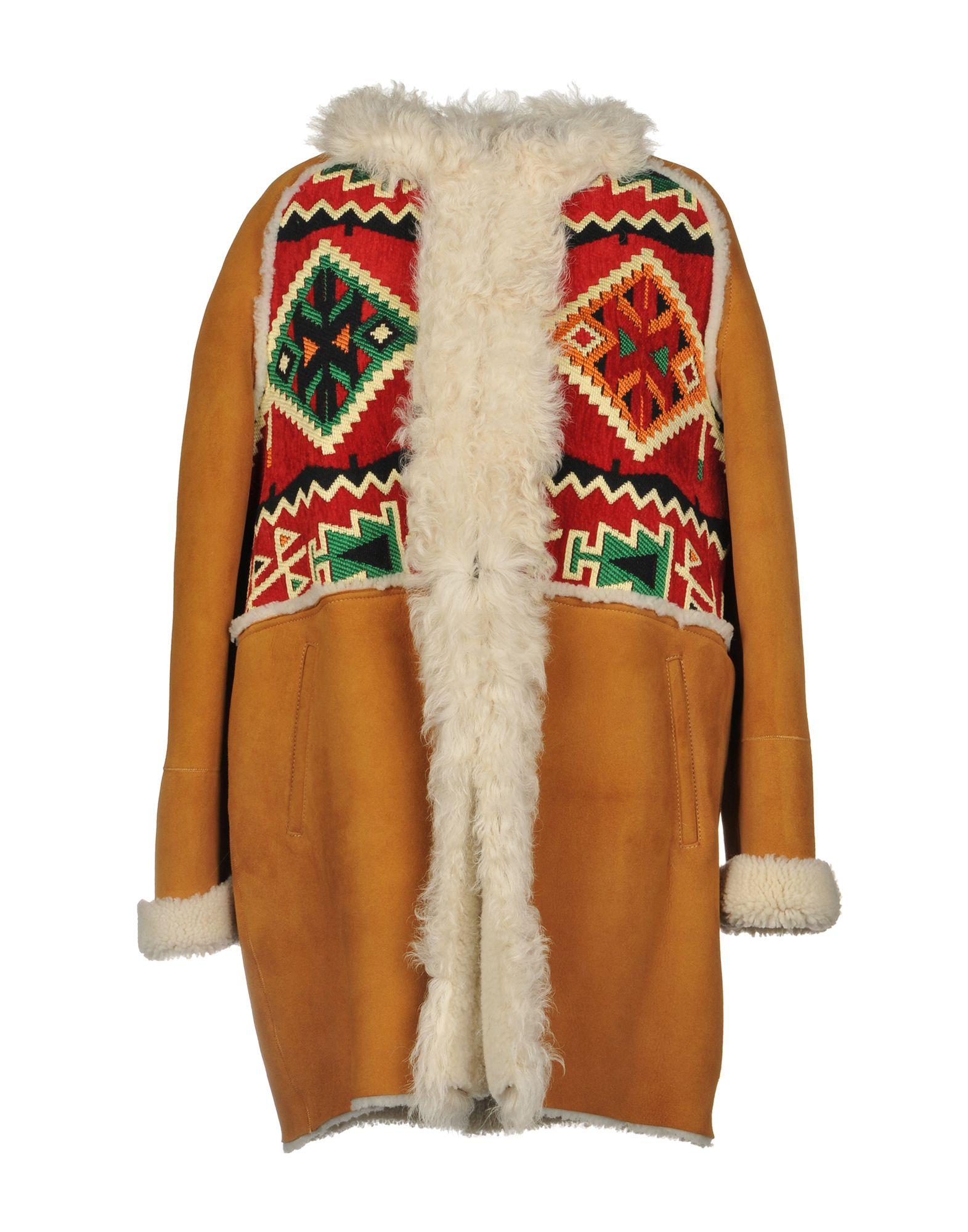 《期間限定 セール開催中》3OTTO3 レディース コート キャメル 40 羊革(ラムスキン) 100% / リアルファー