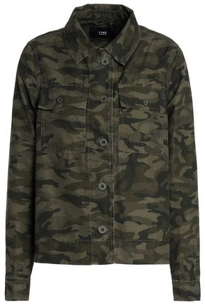LINE Printed cotton-blend jacket