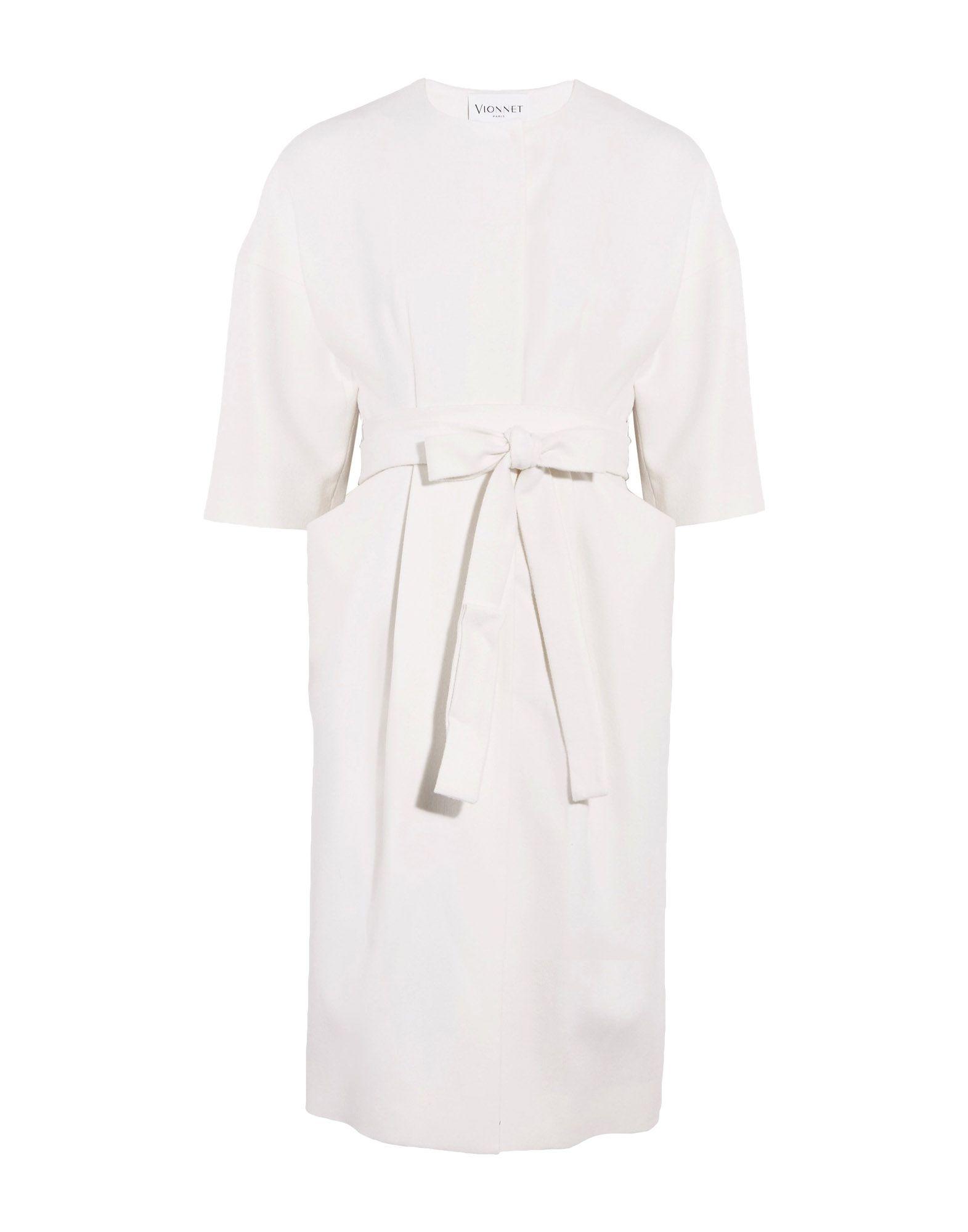 VIONNET Full-Length Jacket in Ivory