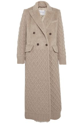 MAX MARA Alda double-breasted paneled wool and cashmere-blend coat