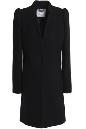 MILLY Gathered wool-blend coat