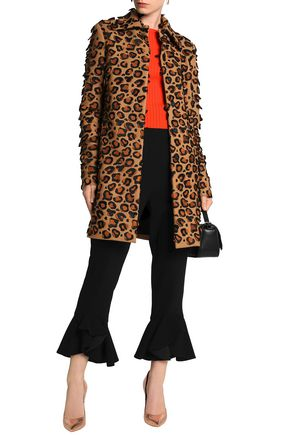 MARCO DE VINCENZO Appliquéd embroidered wool-blend coat