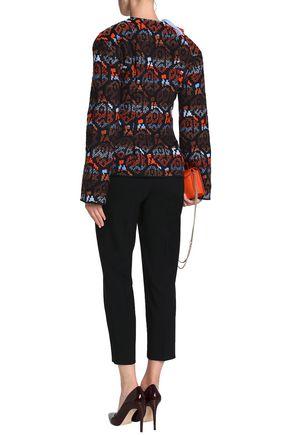 PETER PILOTTO Fringed embellished wool-jacquard jacket