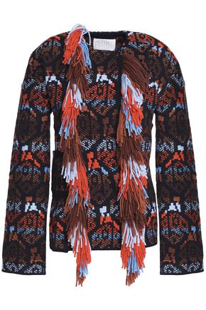 PETER PILOTTO Fringed embellished wool-jacquard jacket