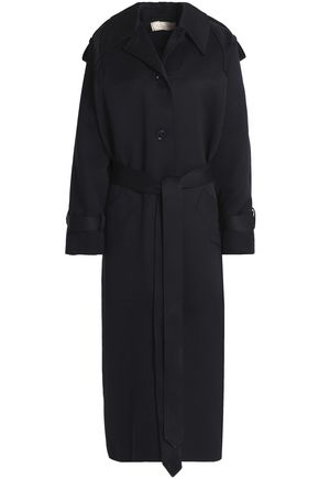 NINA RICCI Belted cotton-blend twill coat