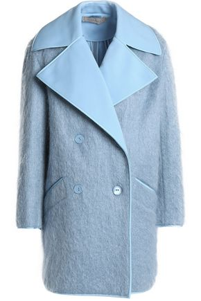NINA RICCI Double-breasted brushed woven coat