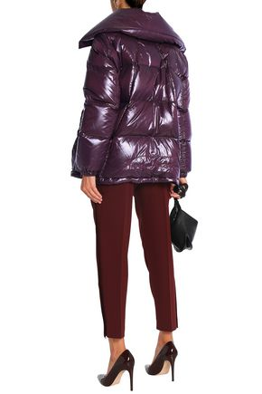 NINA RICCI Quilted coated-shell down coat