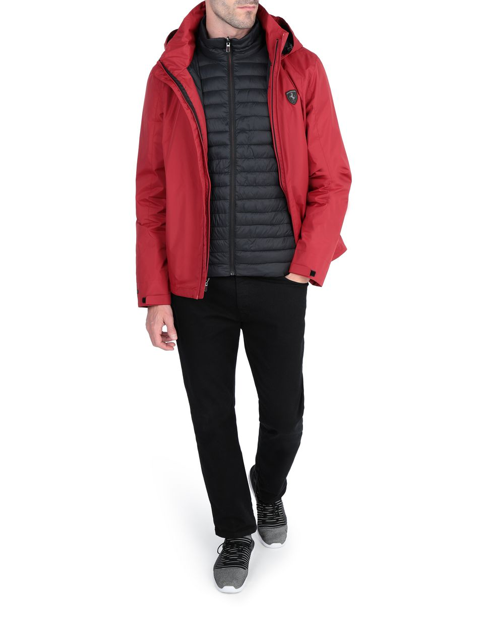 Scuderia Ferrari Online Store - Hooded 2-in-1 parka with inner padded jacket - Parkas