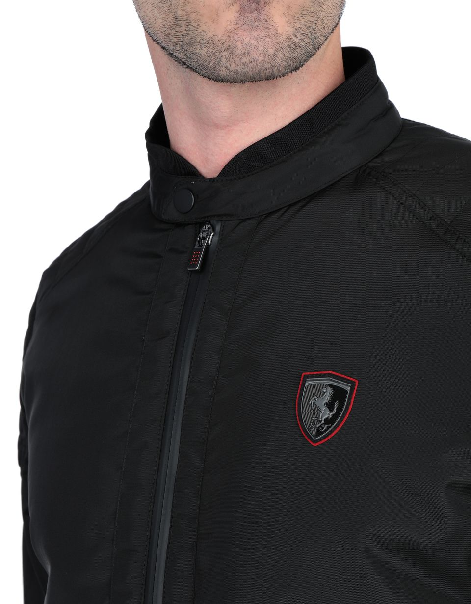 Scuderia Ferrari Online Store - Men's biker jacket with ergonomic padding - Biker Jackets