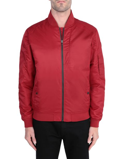 Men's water-resistant bomber jacket