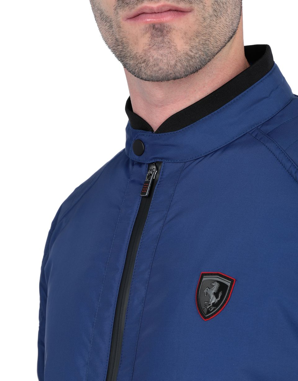 Scuderia Ferrari Online Store - Men's biker jacket with ergonomic padding -