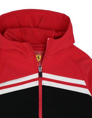 Scuderia Ferrari Online Store - Giacca bambino in softshell con cappuccio - Bomber e Giacche da Corsa