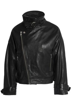 MAJE Beline leather biker jacket
