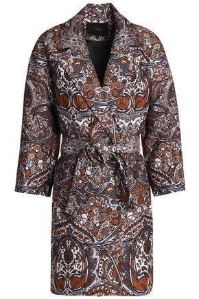 MAJE Belted jacquard jacket