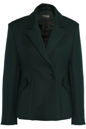 MAJE Double-breasted twill blazer