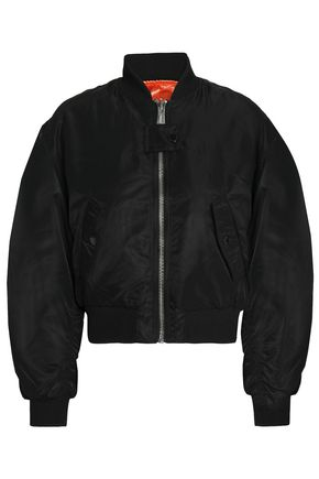 MAJE + Schott Brooklyn reversible shell bomber jacket
