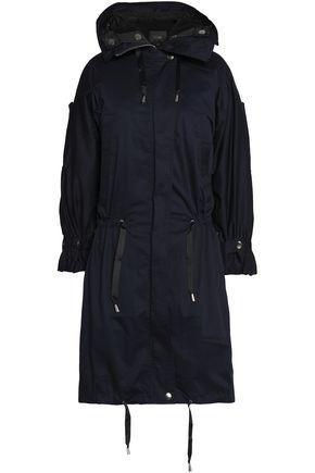 MAJE Stretch-cotton gabardine hooded parka