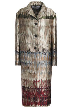 VALENTINO Metallic jacquard coat