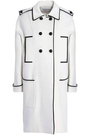 VALENTINO GARAVANI Double-breasted wool-blend felt coat