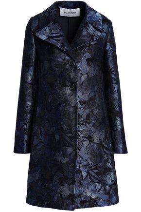 VALENTINO Silk-blend jacquard coat