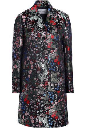 VALENTINO Floral-jacquard coat
