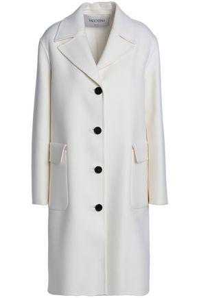 VALENTINO Brushed wool-blend coat