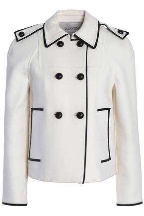 VALENTINO Double-breasted wool-blend felt jacket
