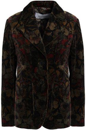 VALENTINO Printed corduroy blazer