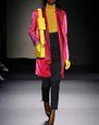 LANVIN Outerwear Woman KRISTA KIM PRINT LEATHER SATIN COAT   f