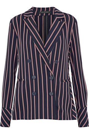 W118 by WALTER BAKER Kitty double-breasted striped twill blazer