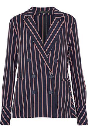 W118 by WALTER BAKER Kitty double-breasted striped twill blazer