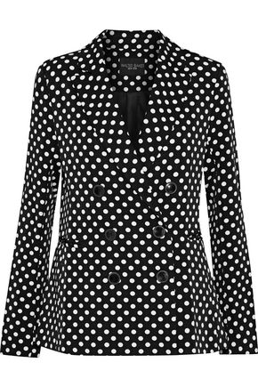 W118 by WALTER BAKER Jenise double-breasted polka-dot twill blazer