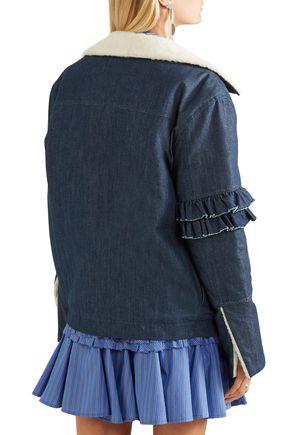 MAGGIE MARILYN Shearling-trimmed denim jacket
