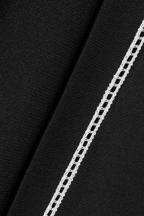 DEREK LAM Crochet-trimmed ponte blazer