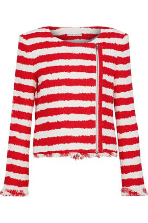 ALICE + OLIVIA JEANS Stanton striped tweed jacket