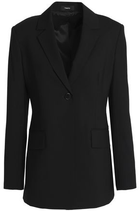 THEORY Wool-blend canvas blazer