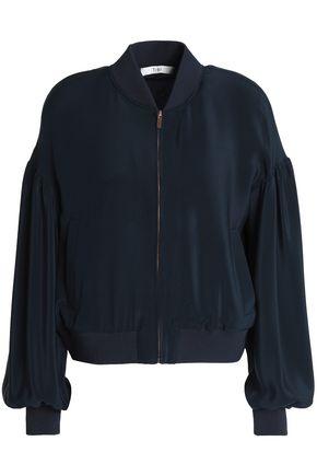 TIBI Silk crepe de chine bomber jacket
