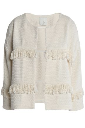 JOIE Fringed cotton-blend jacket