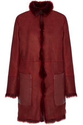 BELSTAFF Kentledge shearling-trimmed leather-paneled nubuck coat