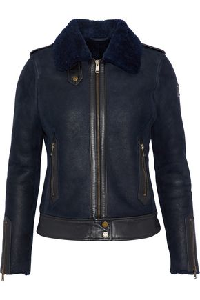 BELSTAFF Danford leather-trimmed shearling jacket