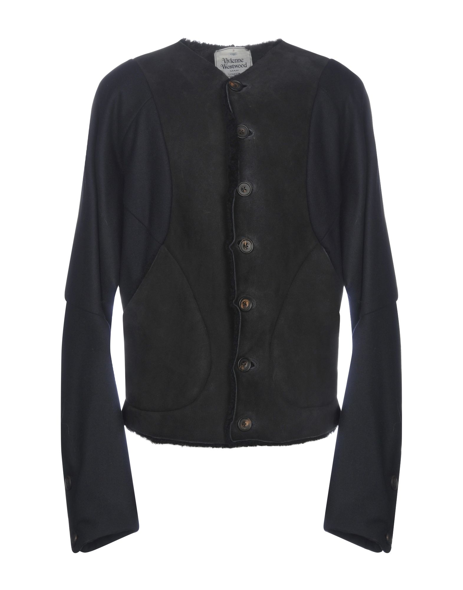 VIVIENNE WESTWOOD MAN Leather Jacket in Dark Green