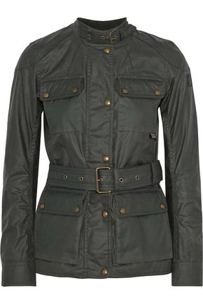 BELSTAFF Roadmaster belted coated-cotton jacket